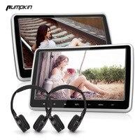 2PCS/LOT Pumpkin 10.1 Inch Digital Screen Car DVD Player Headrest Car Monitor Detachable Touch Button With HDMI Port + Headphone