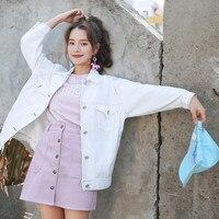 Women Basic Coats Spring Summer Autumn Loose Female White Denim Jacket Coat Women Jeans Coat Jacket Casual Thin Cowboy Outerwear