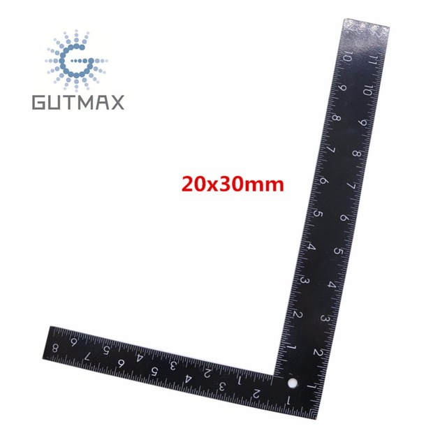 Black Right Angle Ruler L Type 90 Degree Positioning Measurement