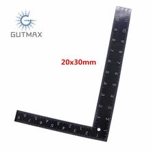 Black Right Angle Ruler L Type 90 Degree Positioning Measurement Tools 20x30cm Inch And cm Scale Woodworking Carpenter Tool HY73