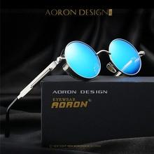 2017 New Gold Round Polarized Sunglasses Fashion Gothic Steampunk Sunglasses Mens Womens Hot UV400 Rays Vintage Shield Eyewear