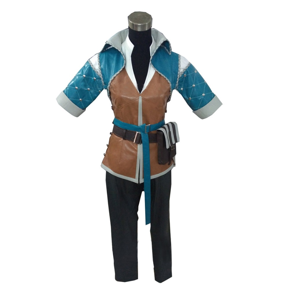 2017 The Witcher 3 chasse sauvage Triss Merigold Costume de Cosplay