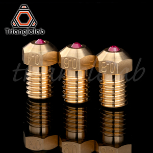 Image 3 - trianglelab high temperature T V6 Ruby Nozzle 1.75MM for E3D V6 HOTEND Compatible with PETG ABS PEI PEEK NYLON etc. ruby nozzle