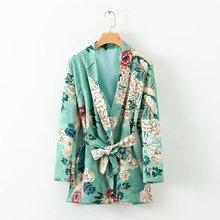 Print Long Blazer Suit Women 2020 Spring Autumn New Female Office Long sleeve Wo