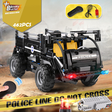 4 Types City Police Series Building Blocks Sets RC Truck Model SWAT Patrol Car Vehicles Bricks Educational Toy For Children Gift lepin 23003 3643pcs technic moc rc jeep wild off road vehicles set educational building blocks brick toy for children model gift