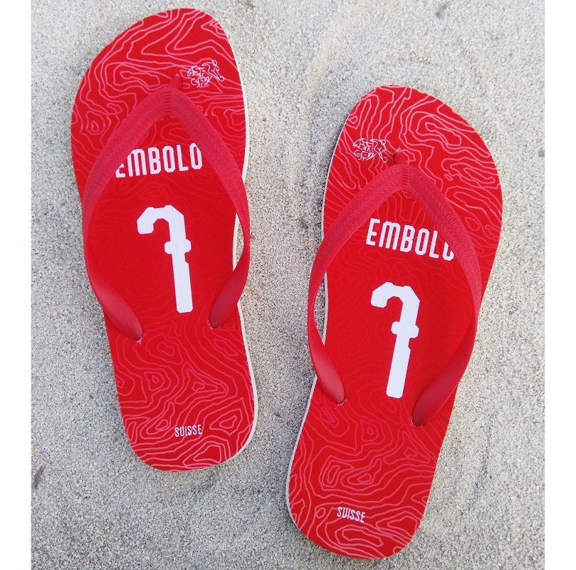 1e5ba8f73 SUISSE National Team Flip Flops SHAQIRI Soccer Beach Shoes World Cup Fans  Slipper Custom Name Towel Fits True Size -in Beach   Outdoor Sandals from  Sports ...