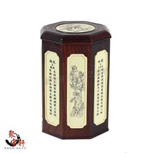 Solid wood carving household act the role ofing is tasted tea pot Annatto large bucket of gift boxes