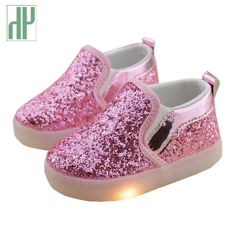 Baby Girls boy LED Light Shoes Toddler Anti Slip Sports