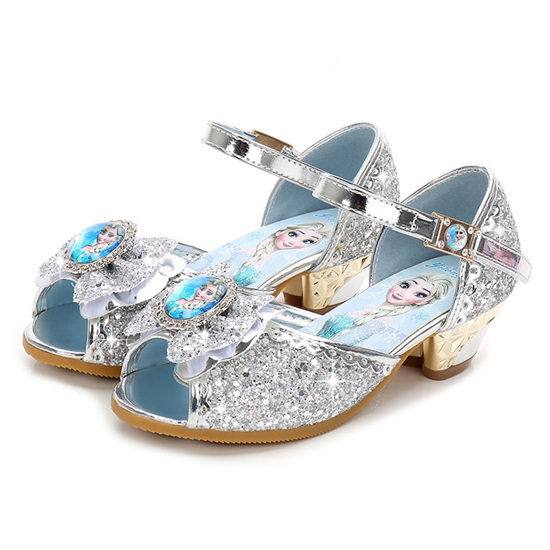 Children Girls Sandals Summer Shoes ,Frozen Shoes For Girls,Dancing And Party Shoe Rhinestone Bow Else Shoes EUR Size 24-36