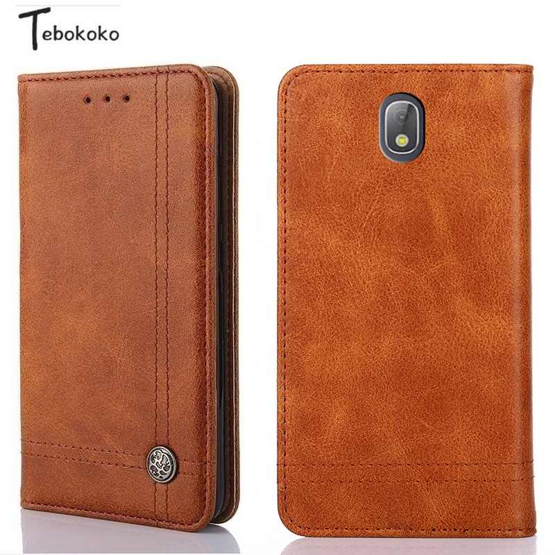 sports shoes 48891 fb8c2 Leather Case for Samsung Galaxy J3 J5 J7 Pro Phone Protective Card Slot  Wallet Flip Cover for Samsung Galaxy J330 J530 J730 2017