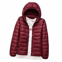 2018 Plus Size 5XL 6XL 7XL Women Ultra Light 90 White Duck Down Jacket Coat Autumn
