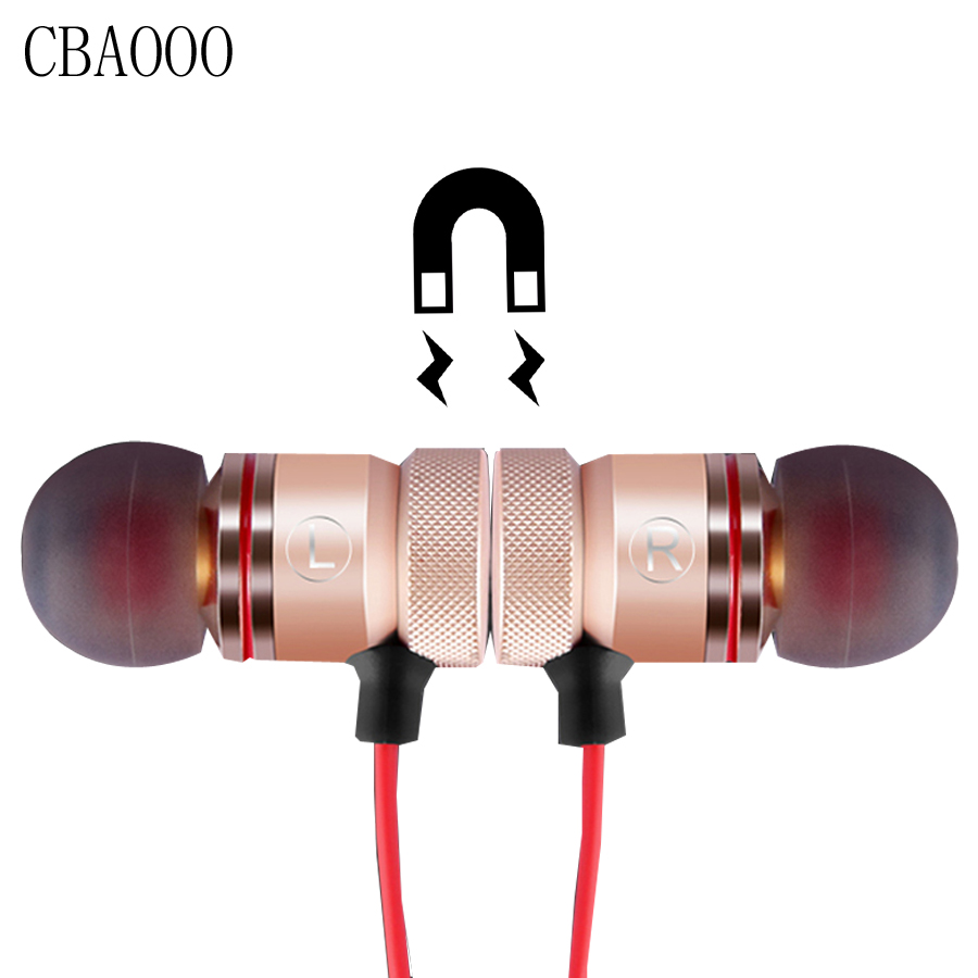 CBAOOO Sports Wireless Bluetooth Earphone Headphones With Microphone Magnetic Bass Earbuds Bluetooth Headset for Mobile Phone ...