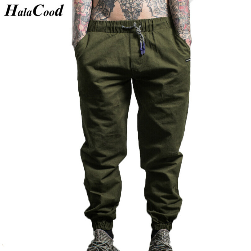 HALACOOD 2017 New Fashion Mens Essentials Drawstring Pants Mens Side Zipper Pockets Sweatpants Male Hip Hop Casual Sweat Pants