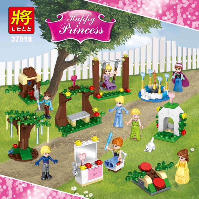 8in1 New Happy Princess Series Building Blocks Ice Princess Cartoon Playmobil Compatible LegoINGLYS Friend Toys for Children