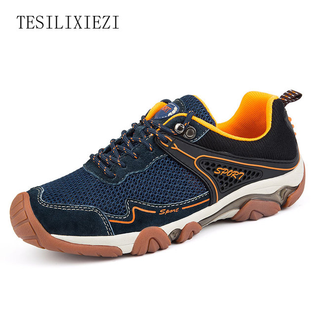 2017 Spring Outdoor Man Shoes Light Anti-skid Sneakers Breathable  Wear-resistant Male Sport