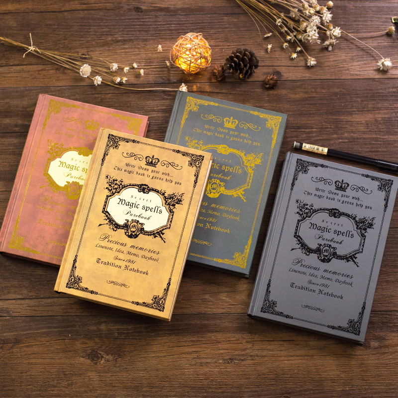 21*14  Vintage Notebook Handcover Magic Spells Pockets Book Planner Journal Traveler Notepad