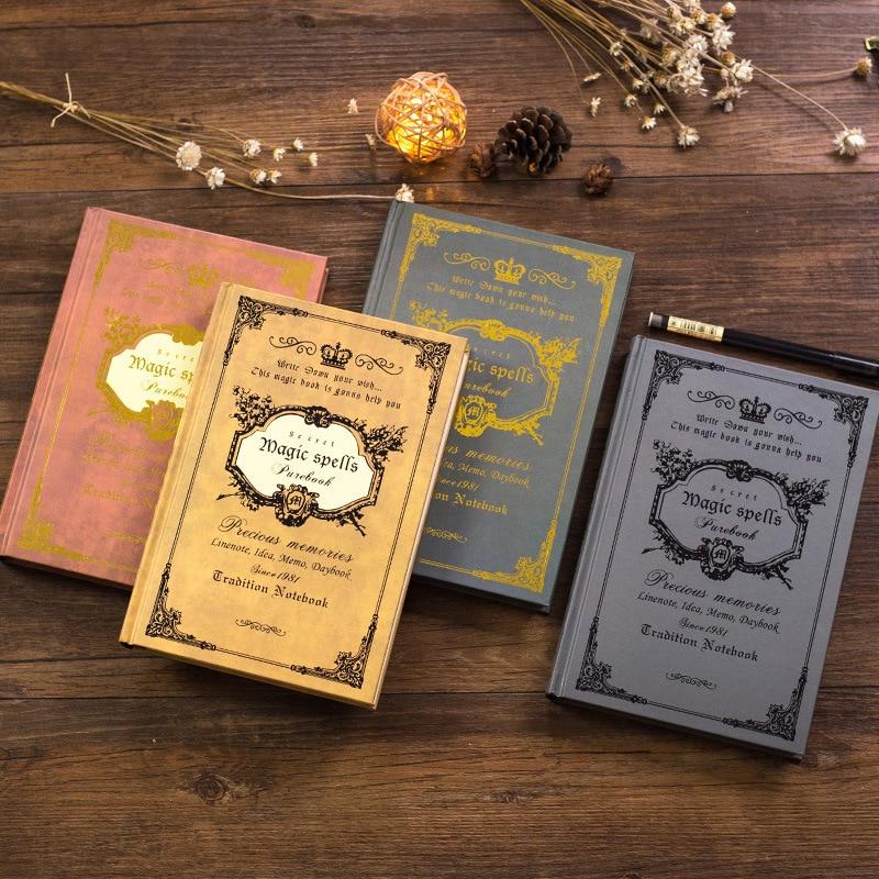 21*14  Vintage Notebook Handcover Magic Spells Pockets Book Planner Journal Traveler Notepad