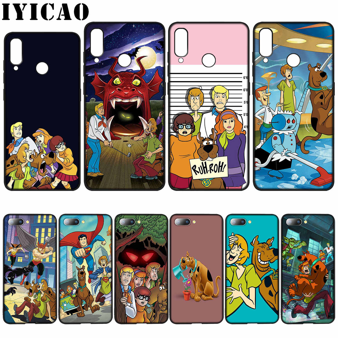 IYICAO Shaggy and Scooby Doo Silicone Soft Case for Huawei Y7 Y6 Prime Y9 2018 Honor 8C 8X 8 9 10 Lite 6A 7C 7X 7A Pro