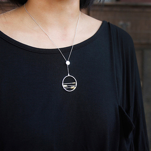 Image 5 - Lotus Fun pendentif en argent Sterling 925, bijou fin fait à la main, créatif, joyeux poisson, en mouvement, sans collier, pour femmes