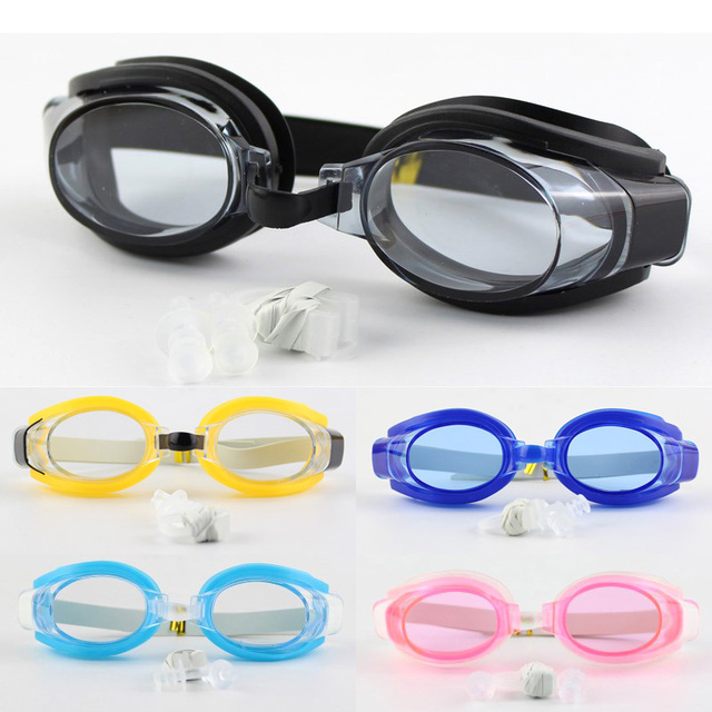 New Kids Children Adjustable Waterproof Anti fog Swimming Glasses Goggles Outdoor Sports Swim Pool Eyewear & Ear Plugs Nose Clip
