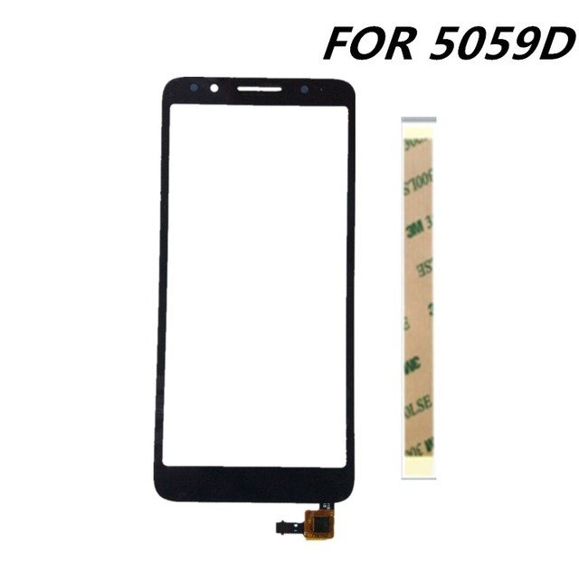 US $8 76 5% OFF|New 5 3inch For Alcatel 1X 5059D 5059 touch Screen Glass  sensor panel lens glass replacement for Alcatel 1X 5059D cell phone-in  Mobile