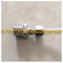 Free shippping food grade 304 stainless steel ferrule connector ,Male ZG1/2,For 10mm hose.