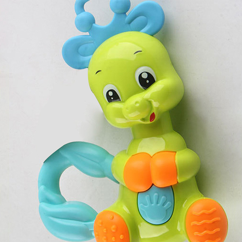 Baby Toys Musical Cute Colorful deer Jingle Shaking Bell Baby Toys Baby Rattle Mobiles Plastic Hand Educational Toys