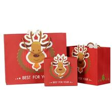 20pcs/lot Exquisite Christmas Gift Wrapping Paper Bag Special with Handles