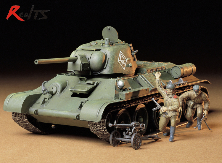 RealTS TAMIYA 1/35 <font><b>tank</b></font> 35149 RUSSIAN <font><b>T34</b></font> 76 <font><b>TANK</b></font> plastic assembly <font><b>model</b></font> kit scale <font><b>tank</b></font> <font><b>model</b></font> building kit image