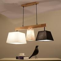 Элегантная ткань подвесные светильники лампадарио абажуры подвесной светильник для столовой подвесная барная лампа деревянное кухонное о