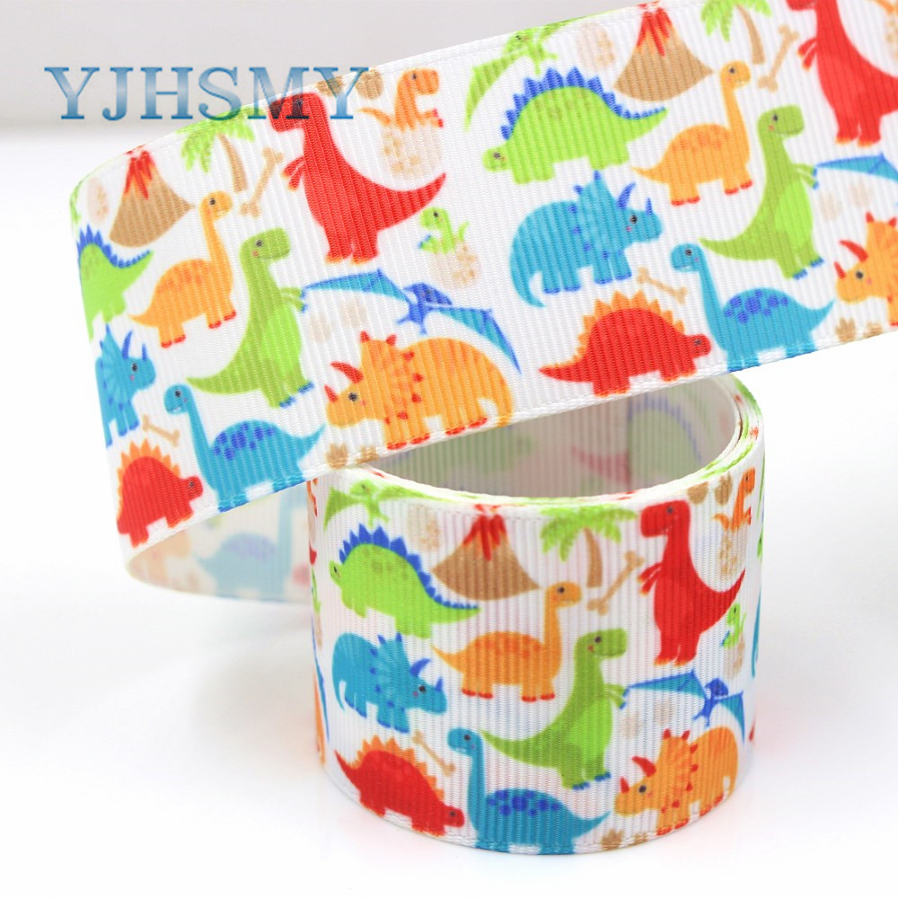 YJHSMY G-18925-1144,10 ярдов, 38 мм мультфильм животных ленты, термопечать grosgrain, Подарочная упаковка DIY материалы