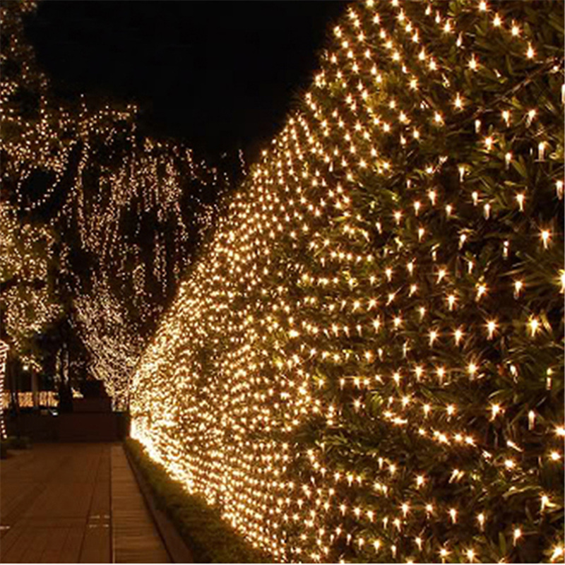 1515m mesh led net light 110v 220v ac wedding decoration christmas fairy string light holiday festival outdoor garden in led string from lights