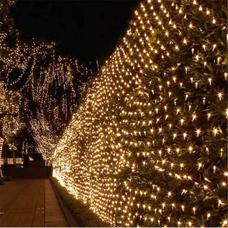 sale retailer 74de0 fdf22 US $8.1 28% OFF|1.5*1.5m mesh led net light 110V 220V AC wedding decoration  christmas fairy string light holiday festival outdoor garden-in LED String  ...