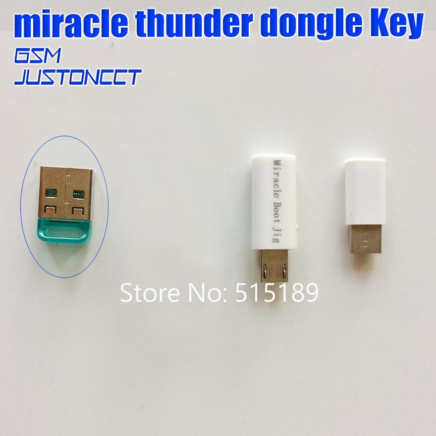 US $108 8 |miracle thunder dongle with miracle edl cable with mriacle boot  jigs function as same as like miralce key /miracle box-in Telecom Parts
