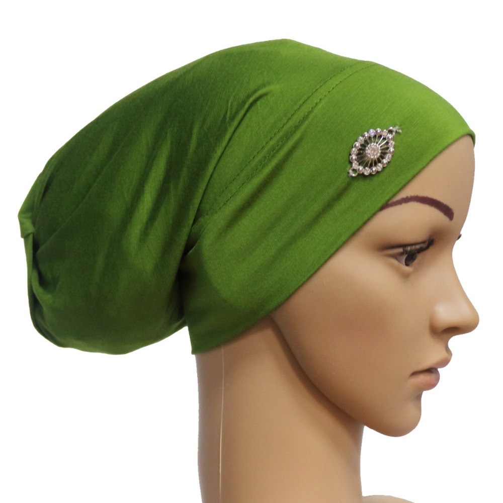 Muslim Turban Hats Brooches Tubes With Rope Hijab Underscarf Bonnet Inner Muslim Caps Gtc307 Fine Craftsmanship Women's Scarves 50 Pieces/lot