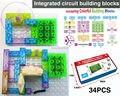 115 projetos Kits DIY blocos de construção de circuito integrado Educatioal aprendizagem brinquedos, Kits modelo de plástico ciência kids brinquedos 34 pcs