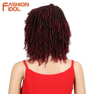 short afro kinky curly hair cosplay wig curly synthetic wig dreadlock brown women hair wigs(China)