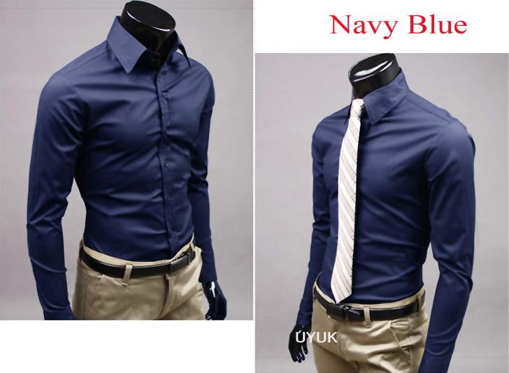 e564415b98f Mens Stylish Shirt Casual Formal Slim Fit Long Sleeve Luxury Business Shirt