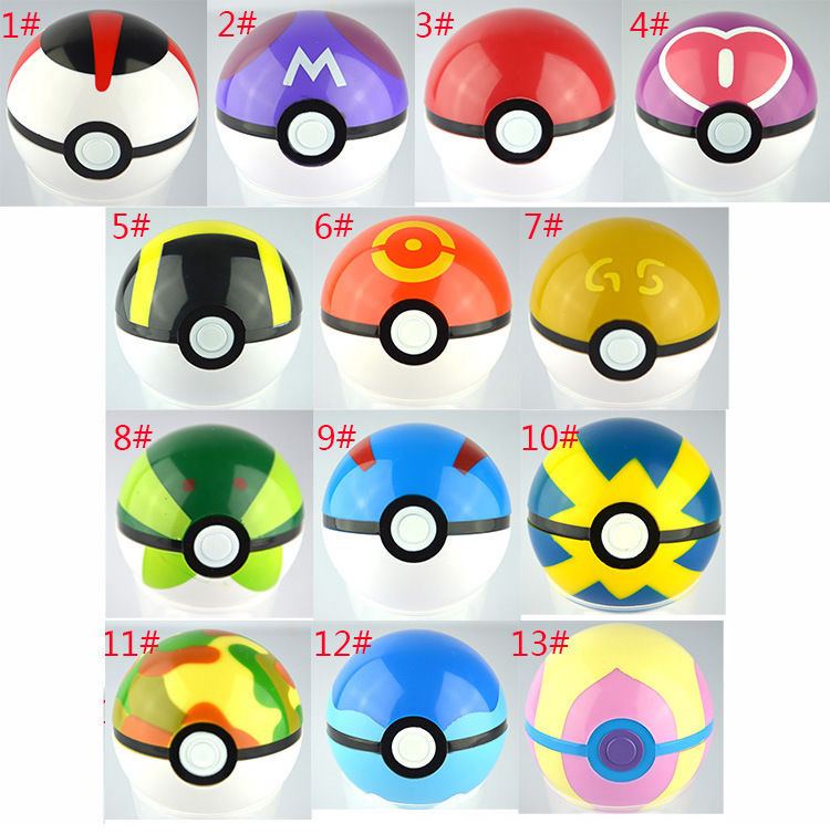 2017 Kids 13Pcs Pokeball + 13pcs Free Random Mini Figures Inside Anime Action & Toy Figures for Children free shipping 6 styles cute kids cheese cat action figures mini cat pvc toys figures model toy best decoration for children