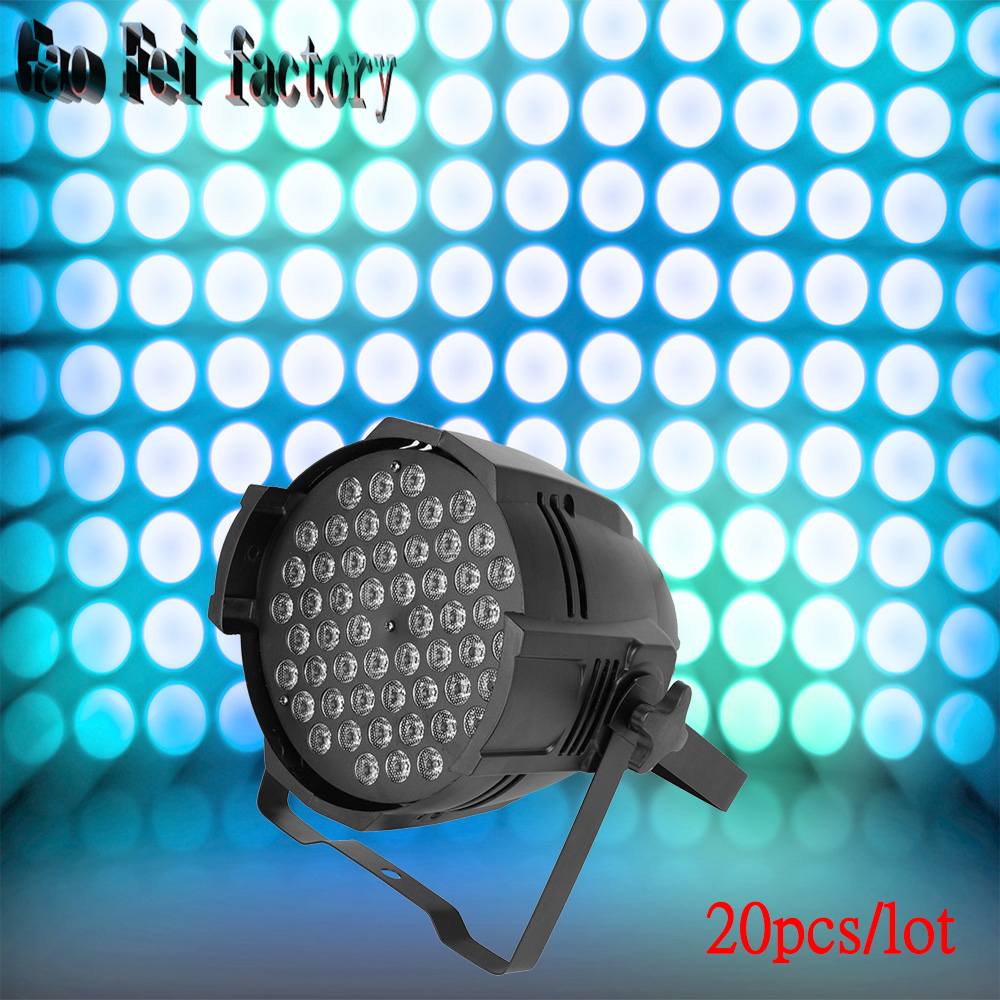 20 Pcs/lot 54 pcs 3W LED led par light rgb 3 in 1 led flat par light led lamp night light for wedding decoration sencart 3 led rgb light motorcycle car decoration handle lamp silver black 3 x lr44 2 pcs