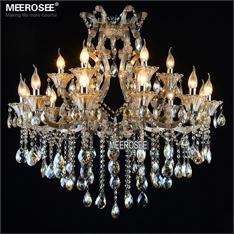 Maria Theresa Cristal Candelabru Lumină de coniac LED Lustru de - Iluminatul interior - Fotografie 3