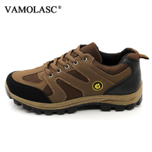VAMOLASC New Men Outdoor Mesh Waterproof Hiking Shoes Climbing Boots Breathable Mountain Walking Trekking Boots