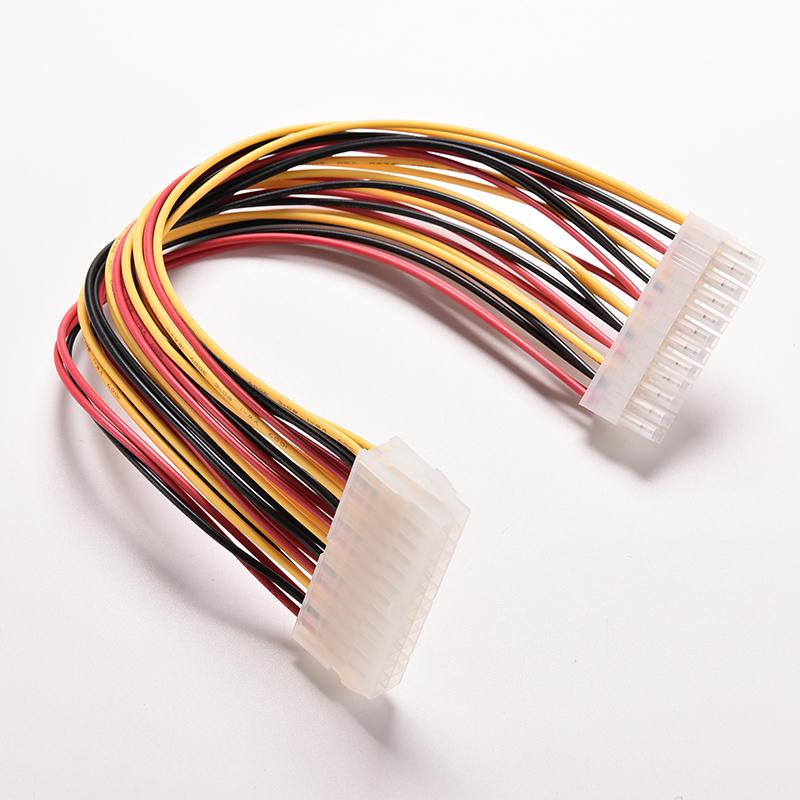 ATX 24 Pin Male to <font><b>24Pin</b></font> Female Power Supply <font><b>Extension</b></font> <font><b>Cable</b></font> Internal PC PSU TW Power Lead Connector Wire 30CM 1PC Drop Shipping image