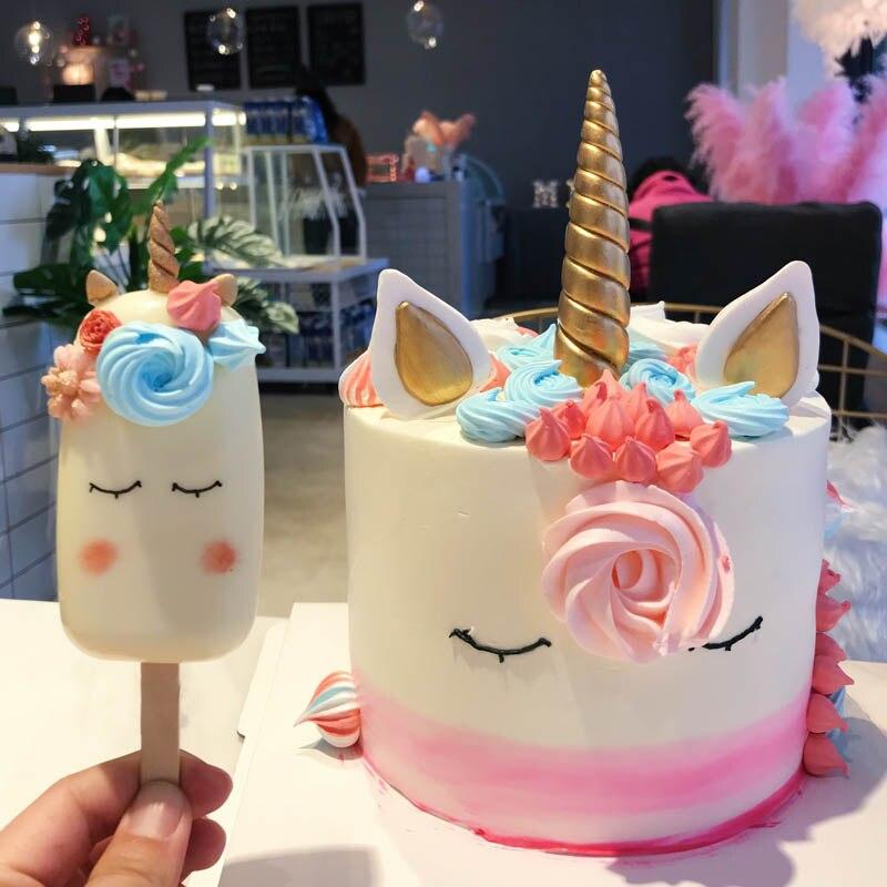 Clay Unicorn Horn Ears Eyes Unicornio Cake Decorating