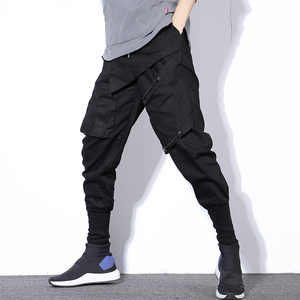 Image 2 - Мужские шаровары в стиле хип хоп, черные повседневные спортивные брюки карго для бега, весна 2020