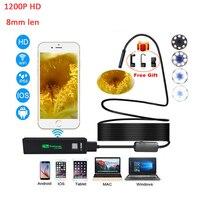 2M 7MM Waterproof IP67 Android Endoscope Inspection USB Borescope Tube Snake Mini Cameras Micro Camera