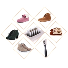 3 Sides Shoes Cleaning Painting Brush For Suede Nubuck Shoes Boots Cleaner Tool