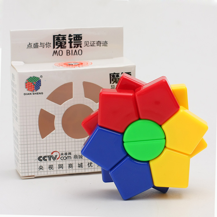 DianSheng Hexagram Two-layer 3x3x3 DS-82 Square Hexagon Speed Magic Cube Twist Puzzle Educational Colorful Puzzle Professional