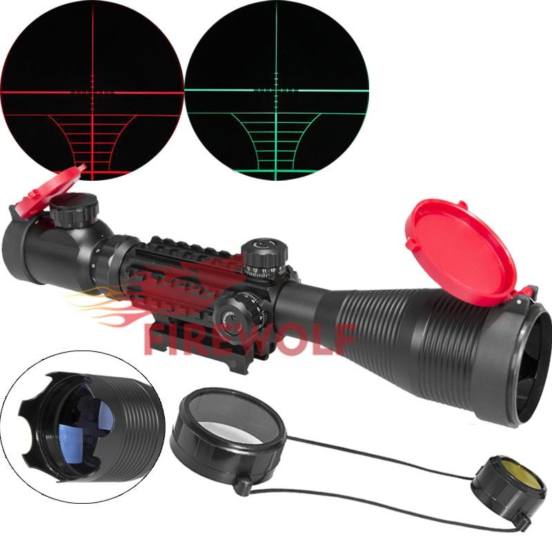 FIRE WOLF 4-16x50 EG LLL Scopes Air Rifle Gun Riflescope Outdoor Hunting Telescope Sight Reflex SNIPER Scope Gun with Red Cover