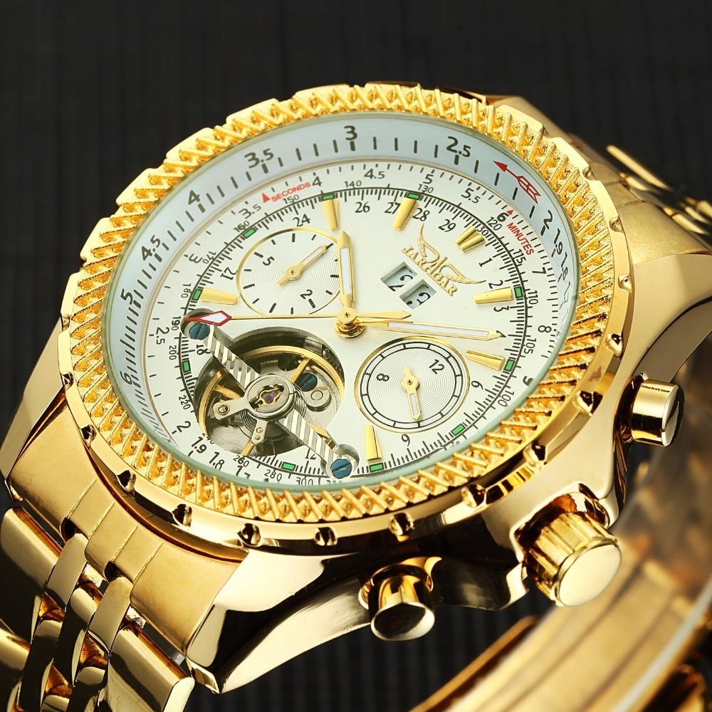2018 uhren Männer Edelstahl Mechanische Uhren Selbst Wind Armbanduhr Automatische Tourbillon Uhr Relogio Masculino-in Mechanische Uhren aus Uhren bei  Gruppe 2